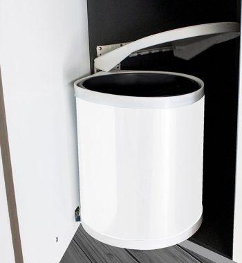 Bote de Basura Redondo CEE Blanco Tapa Automática M40 Puerta Abatible 1X12L b12d2e032e61