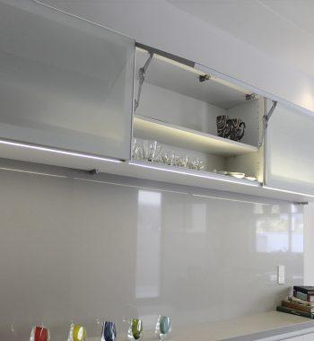 Marco de Aluminio Vitrina Plata Mate Inox Look o Grafito