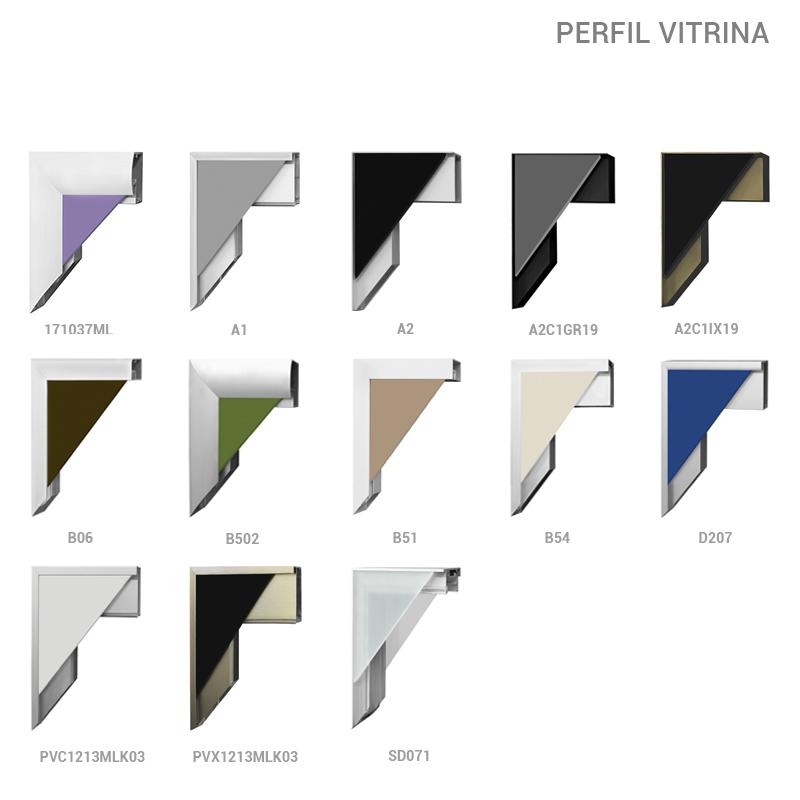 Perfiles Aluminio Vitrina