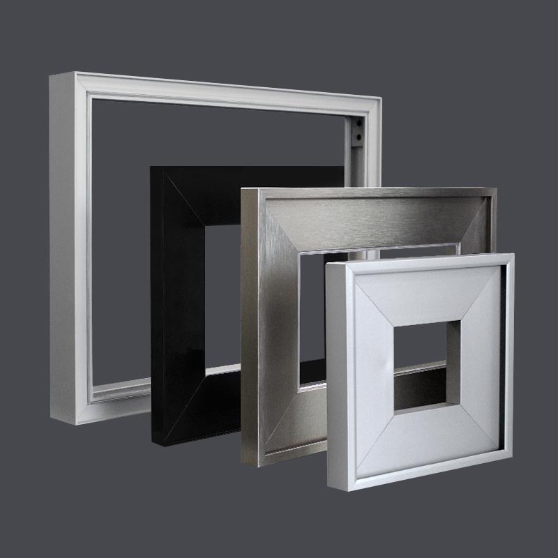 Marco para Puerta de Aluminio Plata mate Inox look o grafito